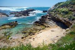 Landskap av den Sardinian kusten Arkivfoto