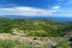 Landskap av den Sardinian kusten Arkivbilder