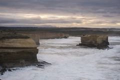 Landskap av den stora havvägen i Victoria Australia Fotografering för Bildbyråer