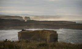 Landskap av den stora havvägen i Victoria Australia Arkivbilder