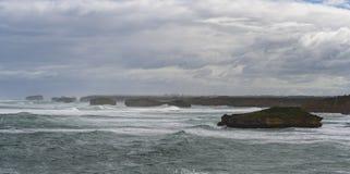 Landskap av den stora havvägen i Victoria Australia Royaltyfri Fotografi