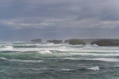 Landskap av den stora havvägen i Victoria Australia royaltyfria bilder