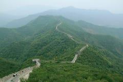 Landskap av den stora väggen av Kina Royaltyfri Foto