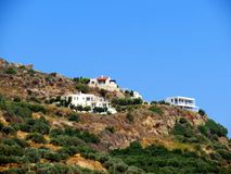 Landskap av den sydliga Kreta royaltyfria bilder