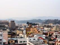 Landskap av den Takayama staden, Japan 1 arkivfoto