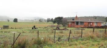 Landskap av den Tasmanien landssidan royaltyfri bild