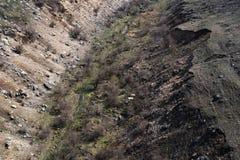 Landskap av den tomma djupa jordklippan från överkant fotografering för bildbyråer