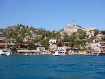 Landskap av det Aegean havet Royaltyfria Foton