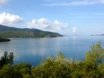 Landskap av det Aegean havet Royaltyfri Bild