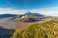 Landskap av det Bromo berget Royaltyfri Foto