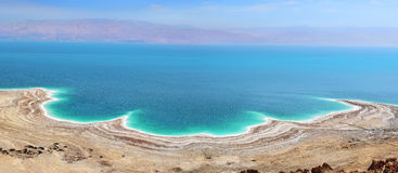 Landskap av det döda havet, Israel Royaltyfria Bilder