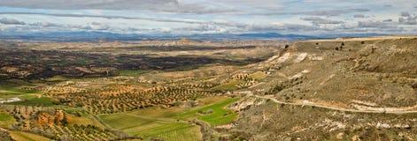 Landskap av det Guadalajara landskapet som ses från Trijueque royaltyfri foto