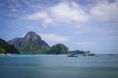 Landskap av det tropiska havet i Palawan, Filippinerna Royaltyfri Fotografi