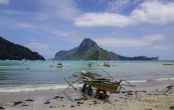 Landskap av det tropiska havet i Palawan, Filippinerna Arkivbilder