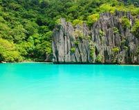 Landskap av El Nido Palawan ö philippines Arkivfoton