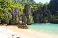 Landskap av El Nido Palawan ö philippines Arkivbild