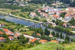 Landskap av en liten stad Royaltyfria Foton