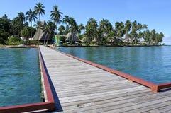 Landskap av en tropisk semesterort i Fiji fotografering för bildbyråer