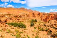 Landskap av en typisk moroccan berberby Arkivbild