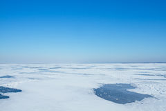 Landskap av en vinter Arkivbild