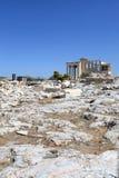 Landskap av Erechtheum det forntida grekiska tempelet Royaltyfri Foto