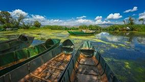 Landskap av Erhai sjön Arkivbilder