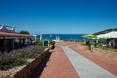 Landskap av ett touristic havsställe Royaltyfria Bilder