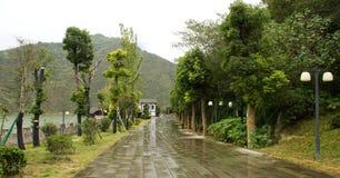 Landskap av fengjiebaidistaden Arkivfoton