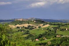 Landskap av Fermo - Italien Fotografering för Bildbyråer