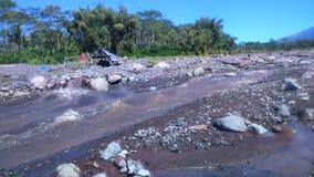 Landskap av flodberget Arkivfoto