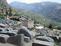 Landskap av forntida Grekland Arkivfoton