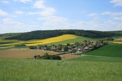 Landskap av Frankrike: Bionval Normandie Arkivfoto