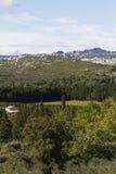 Landskap av franska fjällängar Arkivfoton