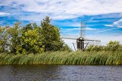 Landskap av Friesland Royaltyfria Foton