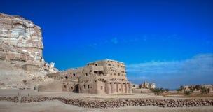Landskap av Gaafar ecolodge Siwa Egypten Arkivfoton