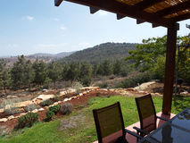 Landskap av Galilee Israel Arkivbild