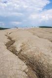 Landskap av gyttjavulkan Arkivfoto