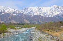 Landskap av Hakuba i Nagano, Japan Arkivbild