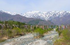 Landskap av Hakuba i Nagano, Japan Royaltyfri Fotografi