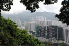 Landskap av Hong Kong Arkivbild