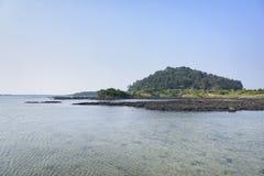 Landskap av inga Jeju Olle cours 2 Royaltyfria Foton