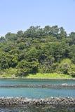 Landskap av inga Jeju Olle cours 2 Royaltyfria Bilder