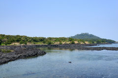 Landskap av inga Jeju Olle cours 2 Arkivbild