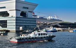 Landskap av Japan Yokohama port Royaltyfria Bilder