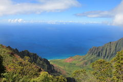Landskap av Kauai Arkivfoton