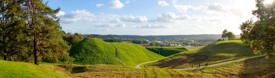 Landskap av Kernave Arkivfoto