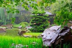 Landskap av kines parkerar. Arkivfoto