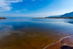 Landskap av Kinneret sjön - Galilee hav Arkivbild