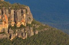 Landskap av klippor i Jamison Valley New South Wales, Aust arkivbilder