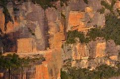 Landskap av klippor i Jamison Valley New South Wales, Aust royaltyfri foto